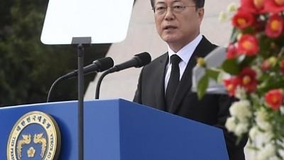 """문 대통령 """"이제 전쟁 끝내자… 북한도 담대하게 나서라"""""""
